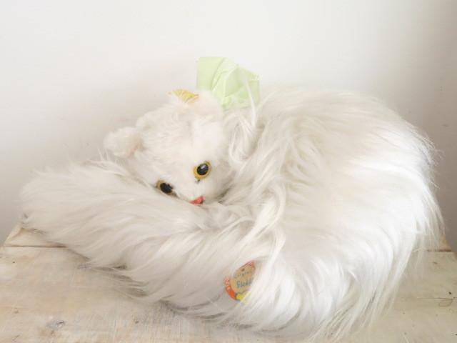 アンティーク シュタイフ ターキッシュアンゴラ ネコ ぬいぐるみ Steiff Diva 30cm