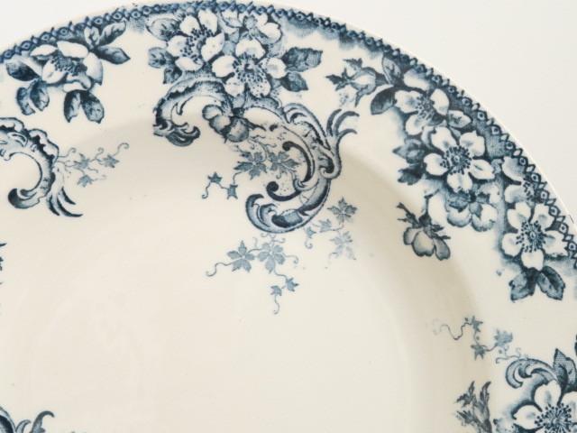 フランス アンティーク 深皿 ワイルドローズ Choisy le Roi製 Wild Rose