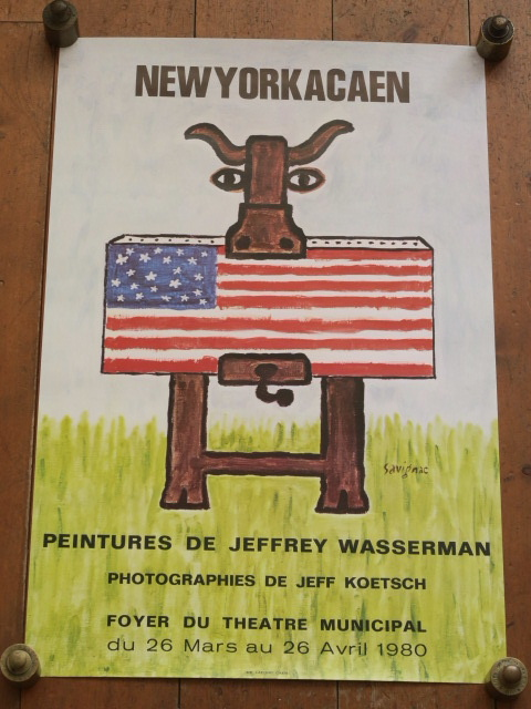 サヴィニャック オリジナルポスター NEW YORK A CAEN Savignac