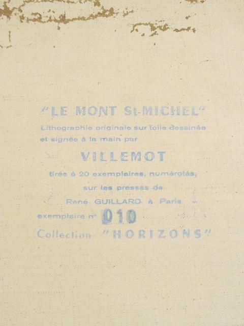 ヴェルナール・ヴィルモ モンサンミッシェル リトグラフ Bernard Villemot MONT Saint MICHEL