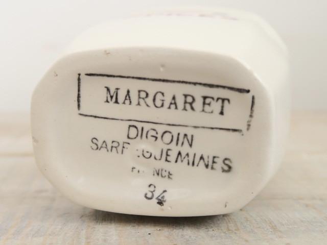 フランス アンティーク キャニスター スパイス入れ MARGARET EPICES Digoin Sarreguemines