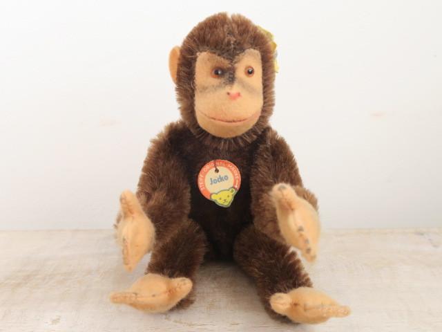 アンティーク シュタイフ チンパンジー Steiff Jocko 15cmサイズ