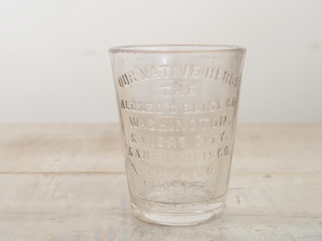 アンティーク ガラス製 計量グラス OUR NATIVE HERBS