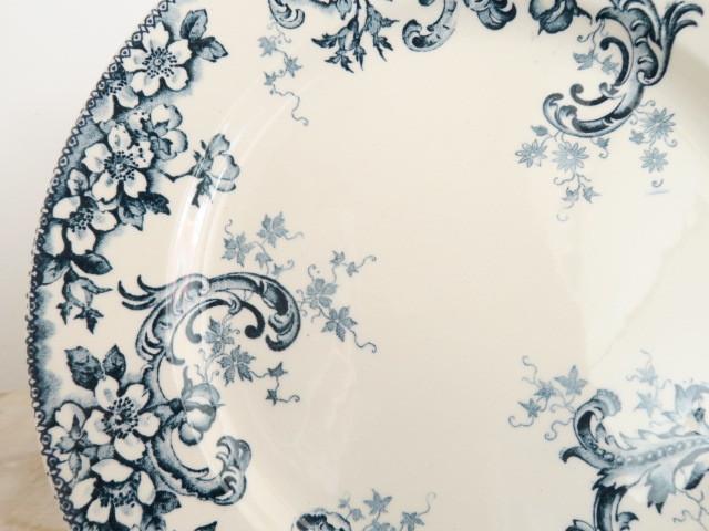 フランス アンティーク 皿 ワイルドローズ Choisy le Roi製 Wild Rose