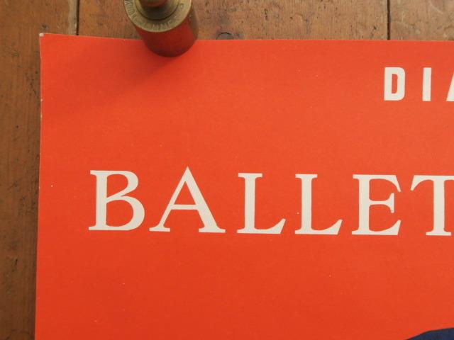 ヴェルナール・ヴィルモ ロシアバレエ団 ビンテージポスター Bernard Villemot BALLETS RUSSES