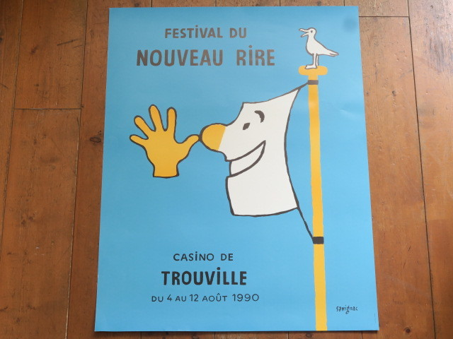 サヴィニャック ポスター Festival du Nouveau Rire 1990 Savignac