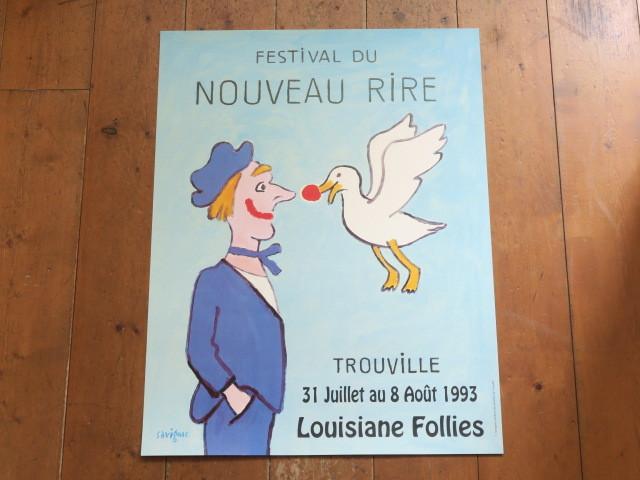 サヴィニャック ビンテージポスター Festival du Nouveau Rire Savignac