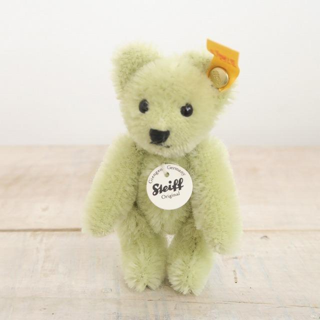 シュタイフ マッチ箱 テディベア 3月 グリーン Steiff Matchbox Teddy Bear March 8cm