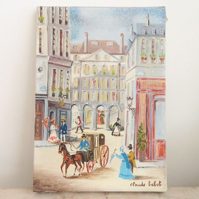 Claude Tabet パサージュ デ アルカード 油絵 油彩画