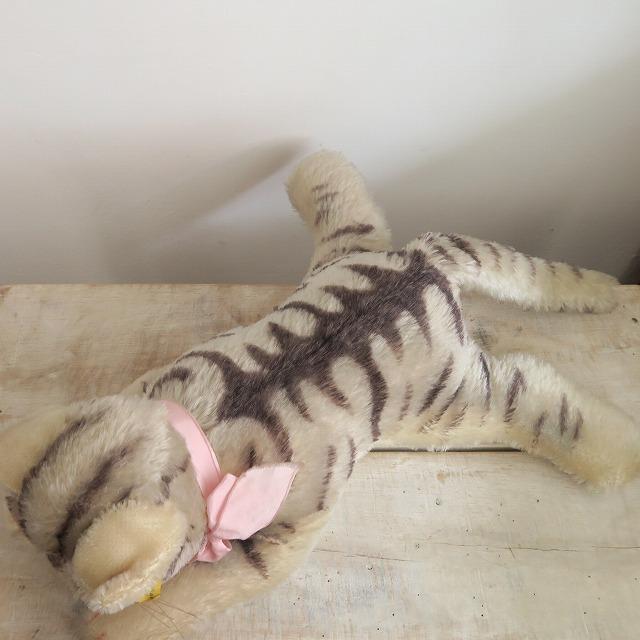 アンティーク シュタイフ お眠りネコ Steiff Floppy Kitty 28cm