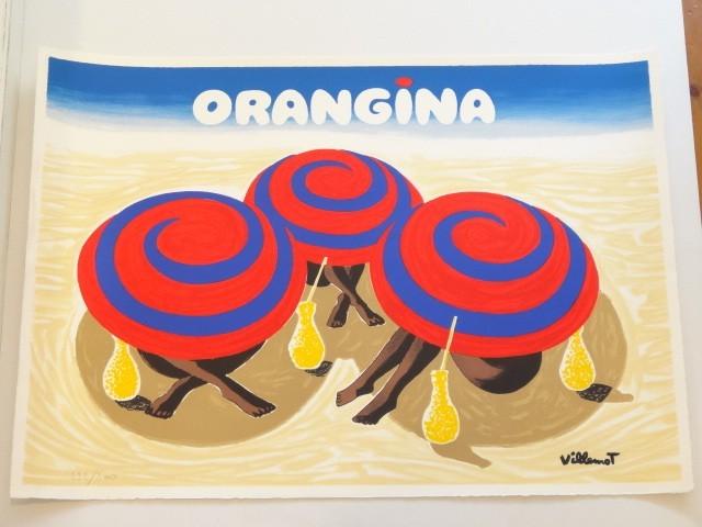 ORANGINA オランジーナ リトグラフポスター VILLEMOT ヴェルナール・ヴューモ