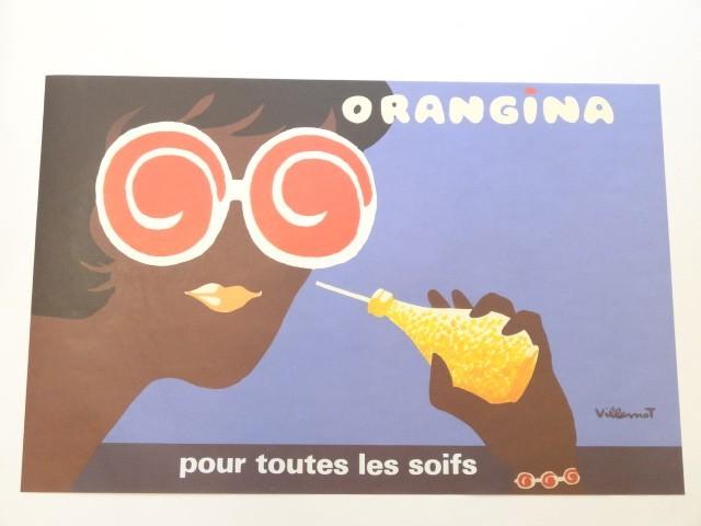 ORANGINA オランジーナ 1981年 ビンテージポスター VILLEMOT ヴェルナール・ヴューモ