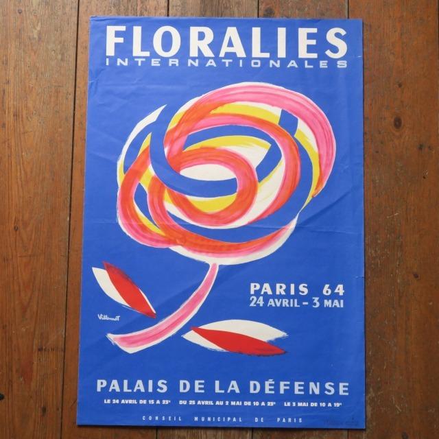 ヴェルナール・ヴィルモ ビンテージポスター FLORALIES Bernard Villemot