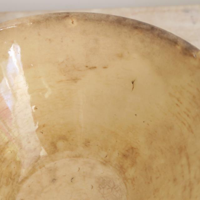 アンティークカフェオレボウル 鳥とサクランボ Digoin & Sarreguemines