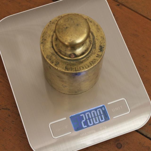 フランス アンティーク 分銅 おもり 2キログラム 2KG
