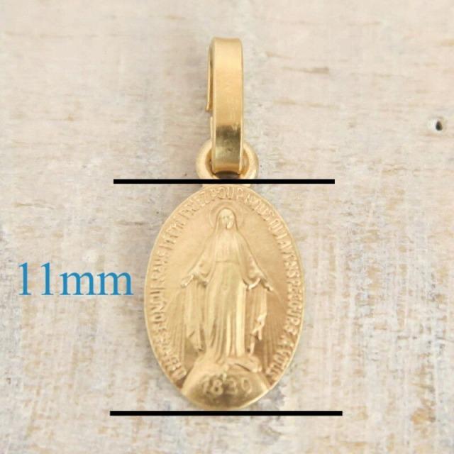 不思議のメダイ 11mm 真鍮+金メッキ