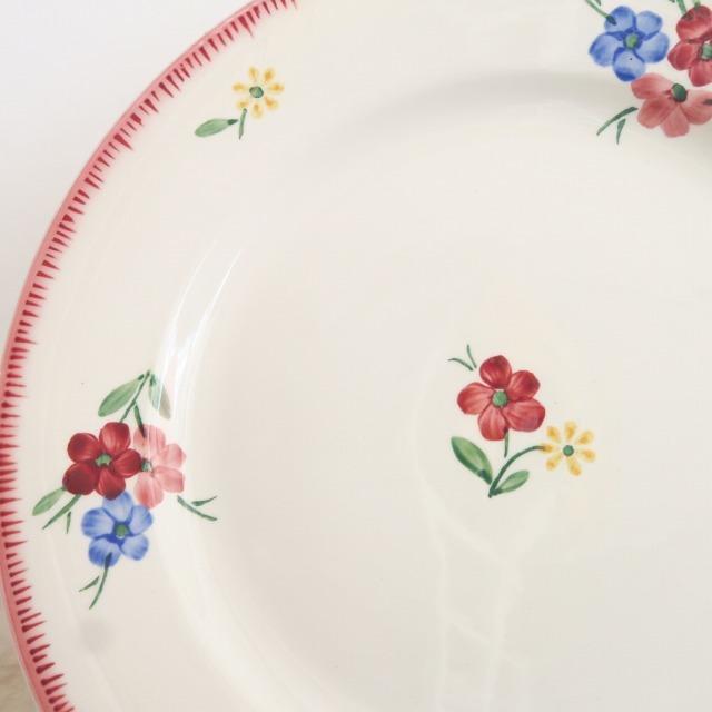 アンティーク皿 FLEURETTES DIGOIN & SARREGUEMINES製