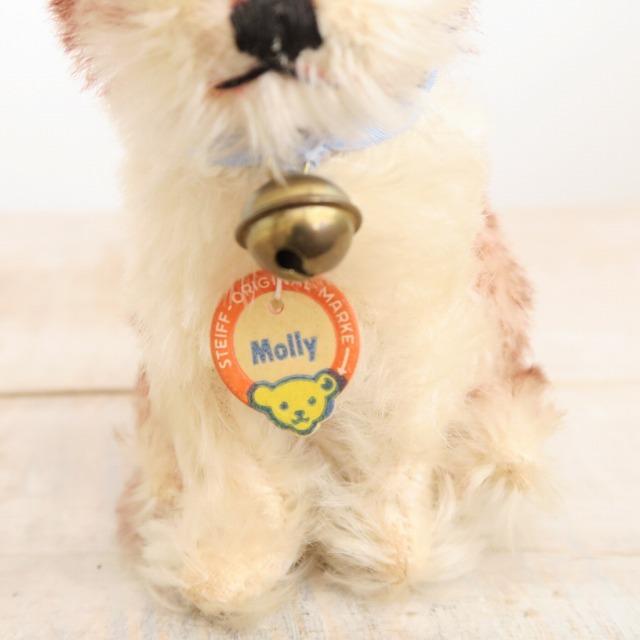 アンティーク シュタイフ 子犬 Steiff Molly 10cm