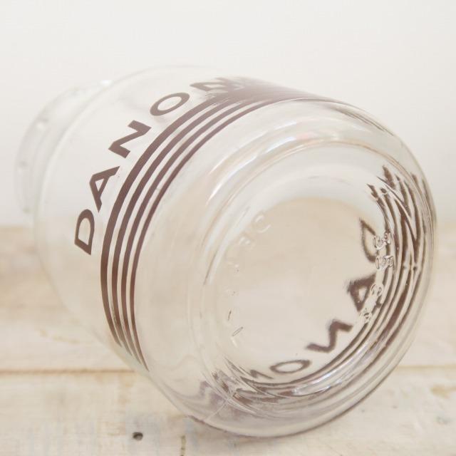 ダノン アンティーク ヨーグルトポット ガラス製 レアサイズ DANONE
