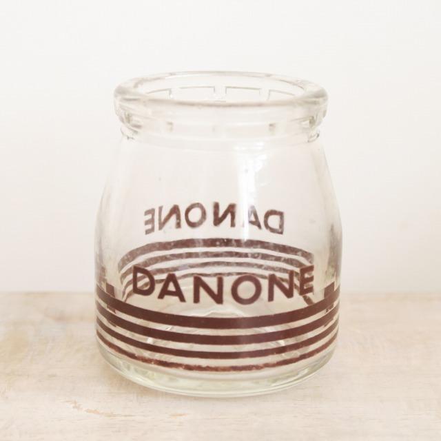 ダノン アンティーク ヨーグルトポット ガラス製 DANONE