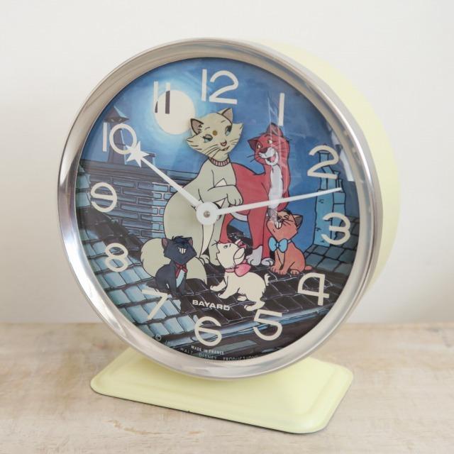 ウォルト・ディズニー おしゃれキャット マリー ビンテージ目覚まし時計 BAYARD製