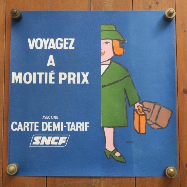 サヴィニャック フランス国鉄 マダム ビンテージポスター 1970年 SNCF SAVIGNAC