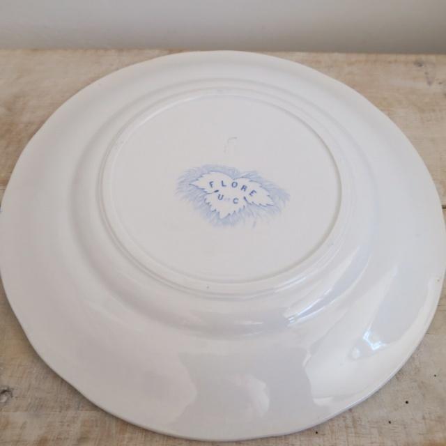アンティークデザート皿 FLORA U&C SARREGUEMINES製