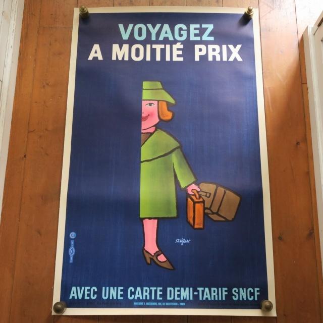 サヴィニャック フランス国鉄 マダム ヴィンテージポスター Savignac SNCF