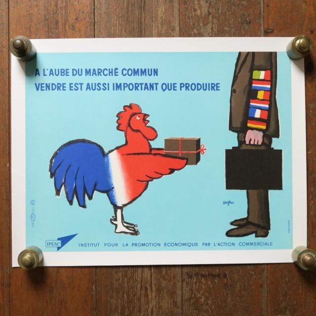 サヴィニャック フランス貿易経済振興会 ヴィンテージポスター Savignac IPEAC