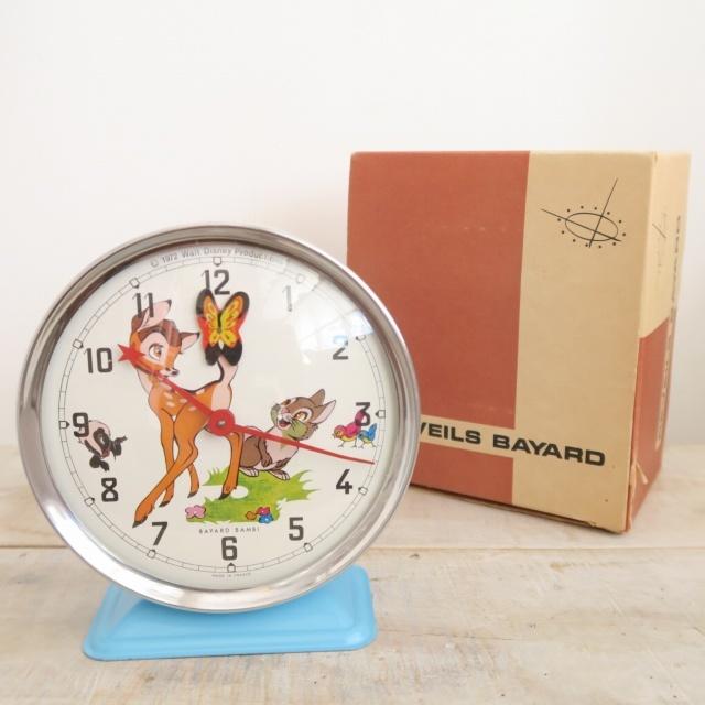ウォルト・ディズニー 小鹿のバンビ ビンテージ目覚まし時計 BAMBI BAYARD製