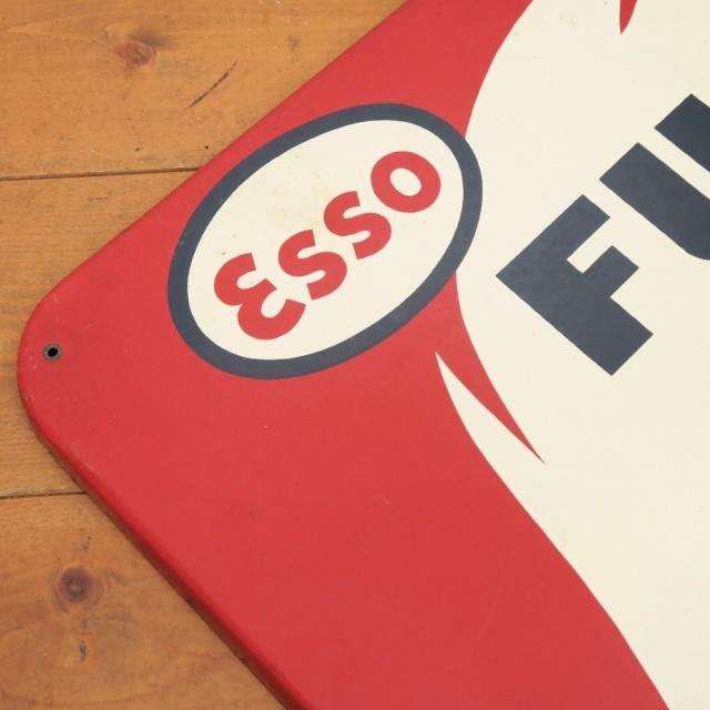 エッソ ビンテージ看板 Esso FUEL OIL DOMESTIQUE
