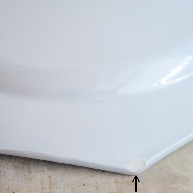 モントロー製 オクトゴナル アンティークプレート 淡いブルー Montereau