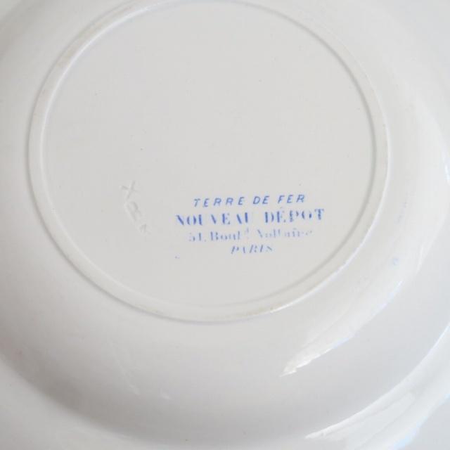 ショワジールロワ製 アンティークプレート 深皿 NOUVEAU DEPOT CHOISY LE ROI
