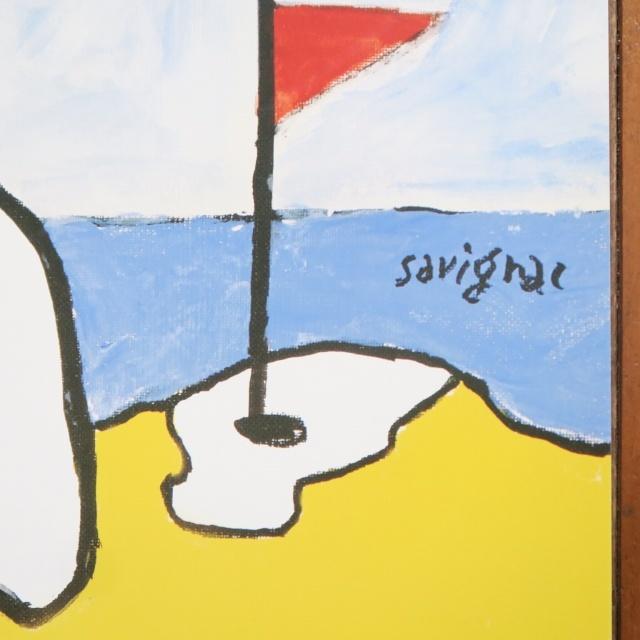 サヴィニャック トゥルーヴィルでビーチゴルフ ポスター Savignac BEACH GOLF DE TROUVILLE