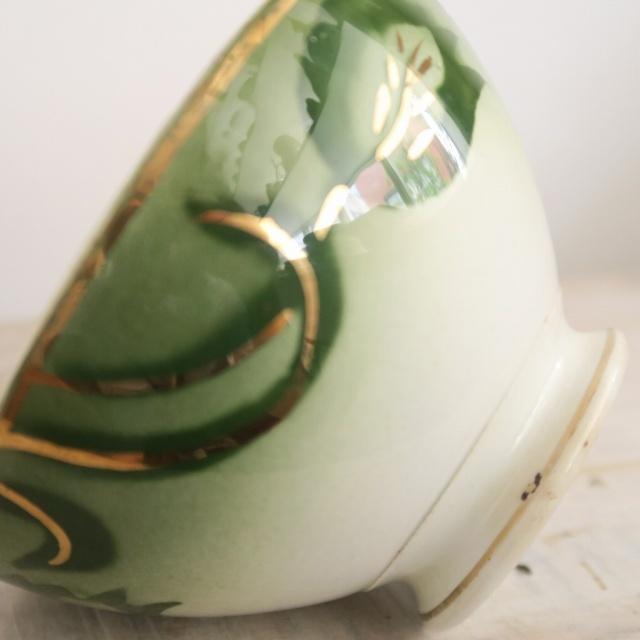 アンティーク カフェオレボウル チューリップ フランス ロンウィー製 LONGWY