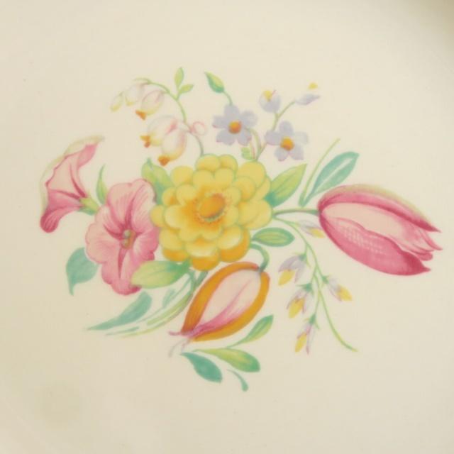 スージークーパー スウォンジースプレイ ピンク デザート皿 SUSIE COOPER