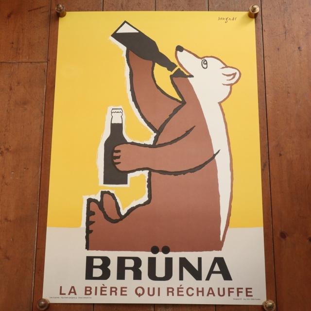 サヴィニャック ベルギービール ブリュナ ポスター Savignac BRUNA