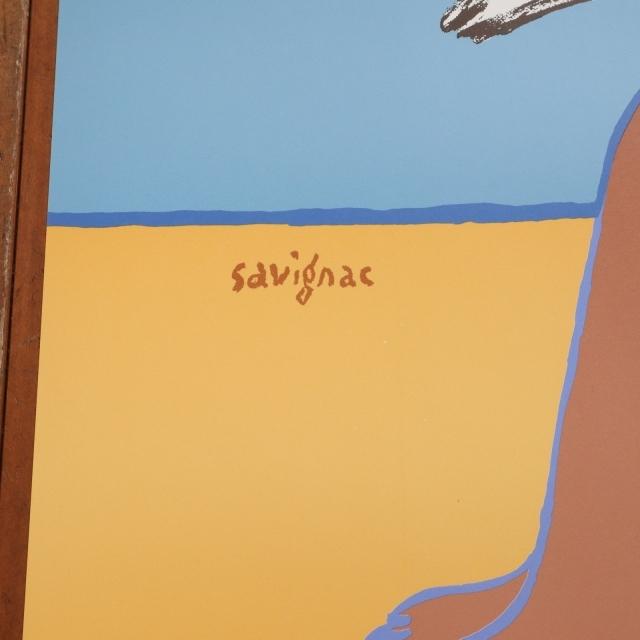サヴィニャック カルヴァドス オリジナル ポスター Savignac TROUVILLE FRANCE NORMANDIE CALVADOS