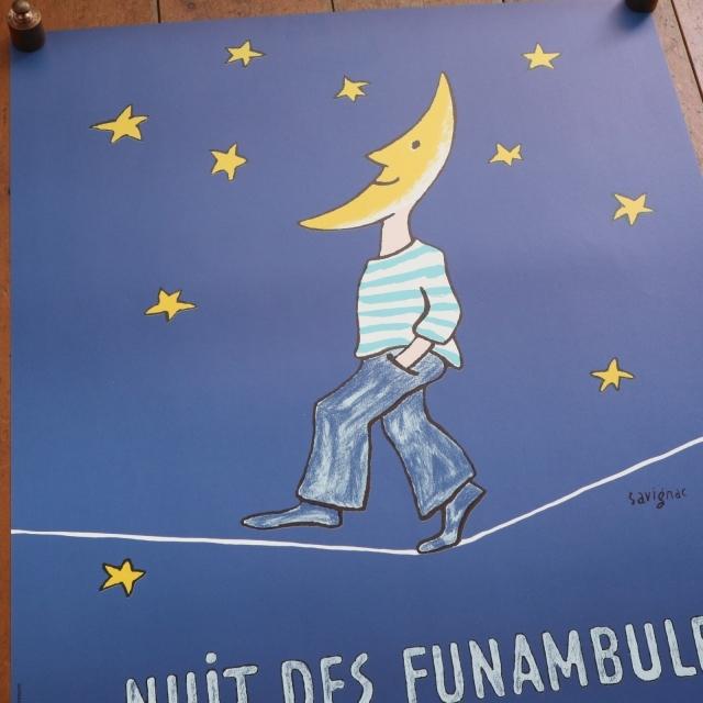 サヴィニャック オリジナル ポスター Savignac NUIT DES FUNAMBULES TROUVILLE