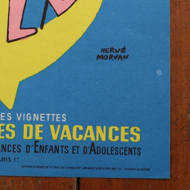 エルベ モルバン ビンテージポスター Jeunesse au plein air 1964年 Herve Morvan