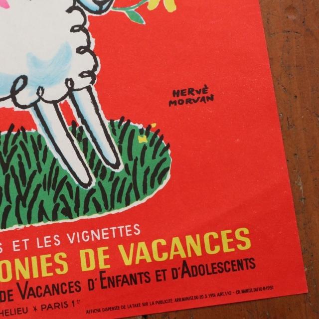 エルベ モルバン ビンテージポスター Jeunesse au plein air 1966年 Herve Morvan