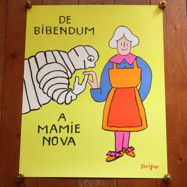 サヴィニャック ビバンダム ビンテージポスター Savignac DE BIBENDUM A MAMIE NOVA