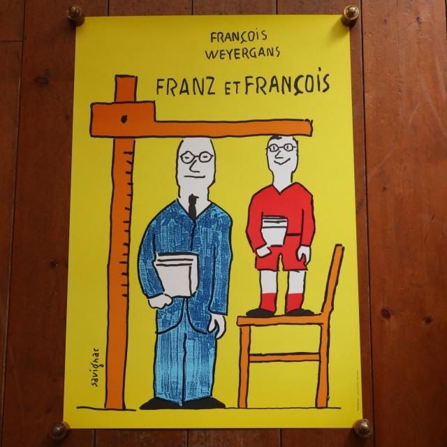 サヴィニャック フランツとフランソワ ビンテージポスター Savignac FRANZ ET FRANCOIS
