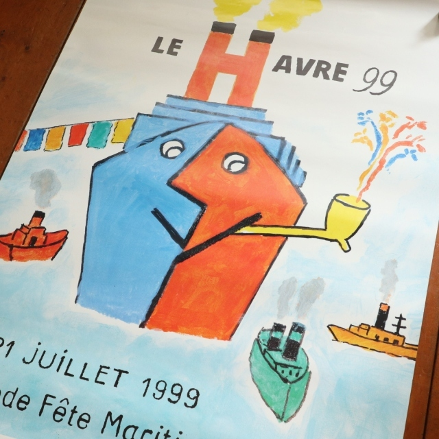 サヴィニャック ル・アーブル 99 ビンテージポスター Savignac Le Havre 99