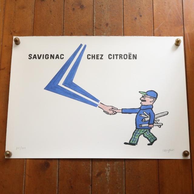 サヴィニャック シトロエン ヴィンテージポスター SAVIGNAC CHEZ CITROEN 70/100