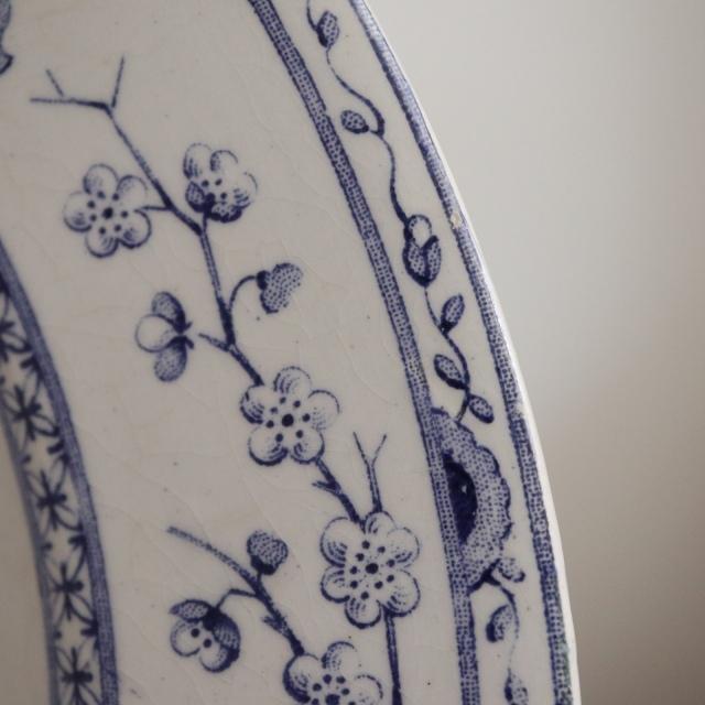 アンティークプレート CREMONE 深皿 フランス クレイユモントロー製 Creil Montereau