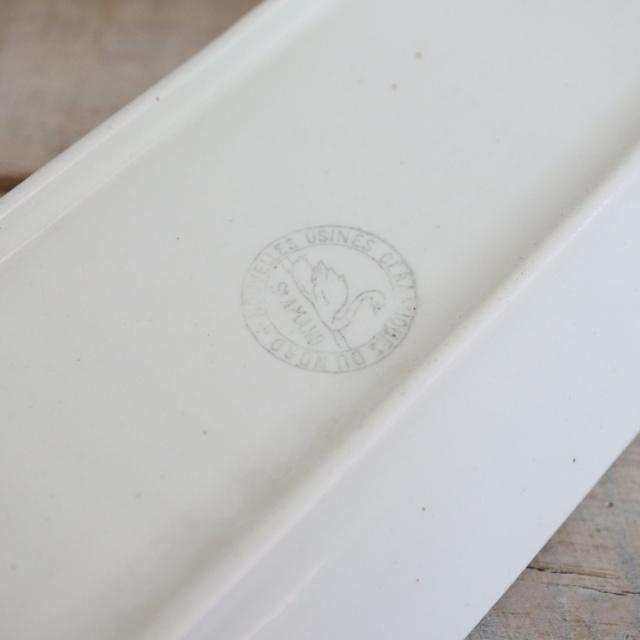 アンティーク フタ付き小物入れ ライラック フランス サンタマン製 ST.AMAND