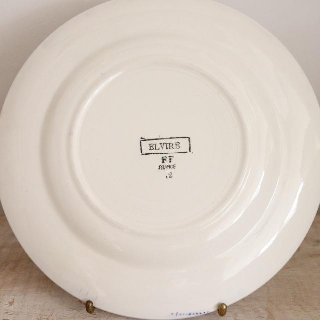 アンティークプレート ELVIRE デザート皿 フランス PEXONNE製