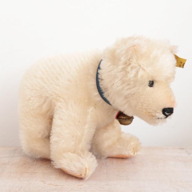 アンティーク シュタイフ シロクマ Steiff Polar Bear 12cm