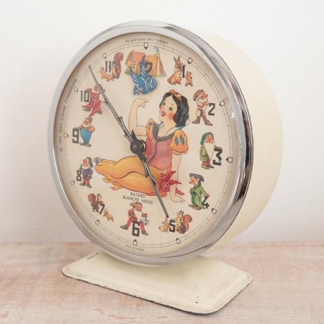 ウォルト・ディズニー 白雪姫 ビンテージ目覚まし時計 BLANCHE NEIGE BAYARD製